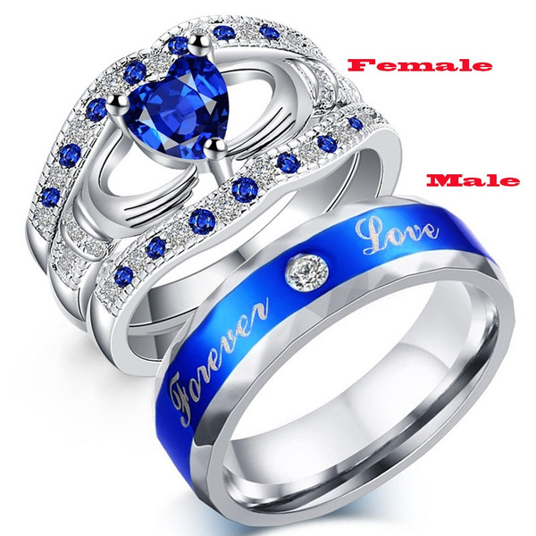 White Gold, Sterling, crystal ring, wedding ring