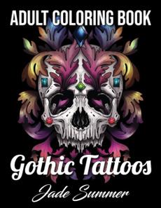 fantasycoloringbook, Goth, Flowers, tattoocoloringbook