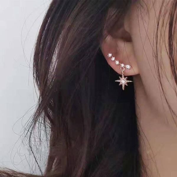 Hoop Earring, Star, Jewelry, Pearl Earrings