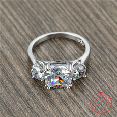 DIAMOND, Christmas, 925 silver rings, Cocktail