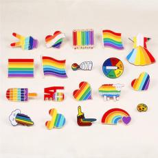 Sheep, rainbow, Decor, colorfulbrooch