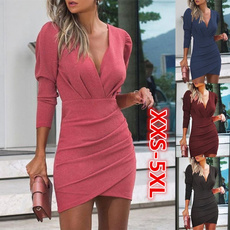 Plus Size, vestidos femininos, Sleeve, Long Sleeve