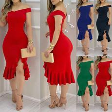 sleeveless, Plus Size, ruffle, Evening Dress