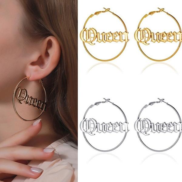 exaggeratedearring, Hoop Earring, queenearring, Jewelry