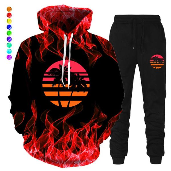 3D hoodies, Winter, pants, men women