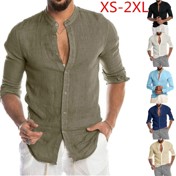 Stand Collar, Fashion, Shirt, Sleeve