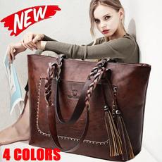 largecapacityhandbag, underarmbag, Tassels, adornment