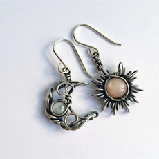 Sterling, bohemia, Moda, Gemstone Earrings