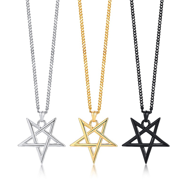 goldplated, Steel, Goth, Men  Necklace