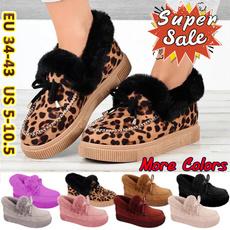 ankle boots, Flats, furryfur, fur