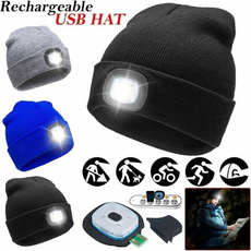 knitted, Beanie, Outdoor, led