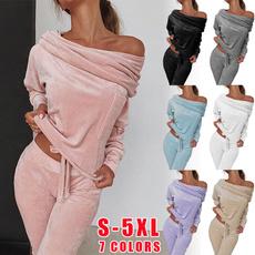 pajamaset, Fleece, Fashion, Yoga