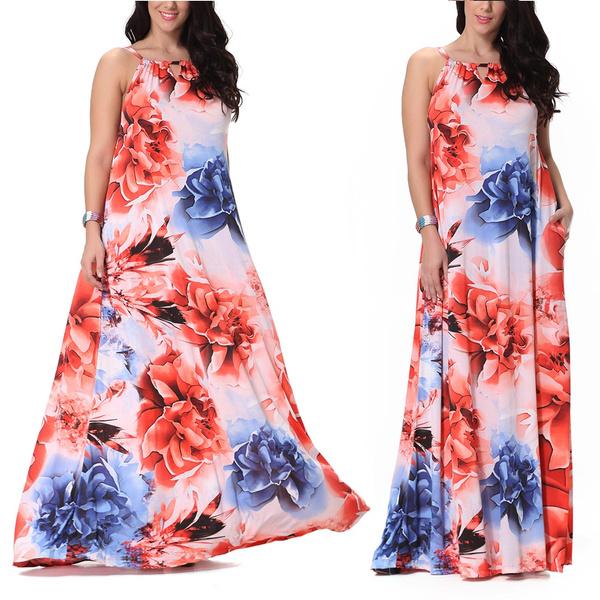 bohemia, Summer, sundress, long dress