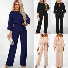 Fashion, wideleg, Waist, Long sleeved