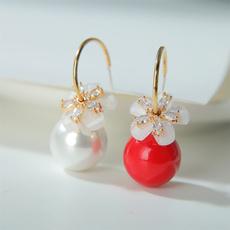 Fashion, DIAMOND, Jewelry, Pearl Earrings