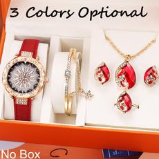 quartzwristwatchjewelry, quartz, gold, crystaljewelryset