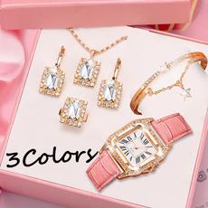quartz, gold, Watch, gold necklace