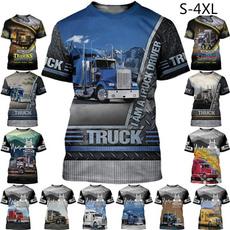Fashion, Cotton T Shirt, fashionshortsleeve, truckertshirt