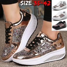 White Gold, casual shoes, Tenis, Plus Size