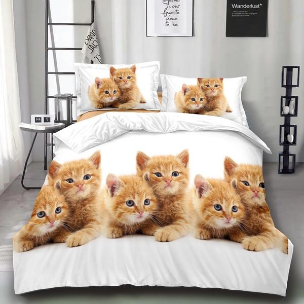 edredonescama, giftsforkid, 3pcsbeddingset, catbedding