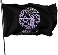 wiccan, welcomegardenflag, Garden, Home & Living