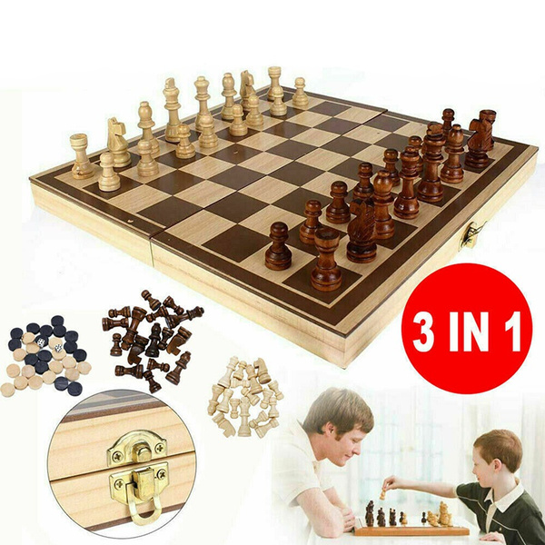 Chess, woodenchessset, Travel, foldingches