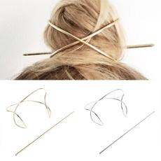 girlshairpin, hairornament, Vintage, goldhairpin
