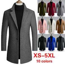 casual coat, Fleece, warmjacket, Slim Fit