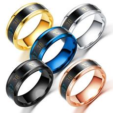 Steel, creativering, Waterproof, fashion ring