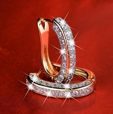 Heart, DIAMOND, Jewelry, Stud Earring