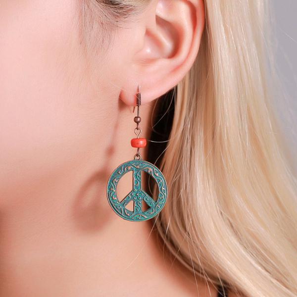 windancientbronzepatternround, earringsandpeace, court, Jewelry