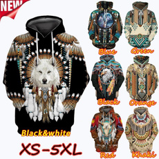 hoodiesformen, Fashion, nativeamerican, Long Sleeve