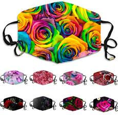 roseprint, Floral print, Colorful, printedfacemask