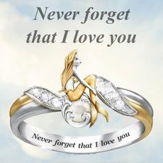 Sterling, Fashion, letterring, wedding ring