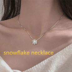 Sterling, clavicle  chain, DIAMOND, Christmas