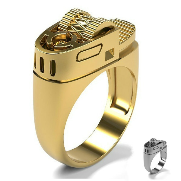 Fashion, 925 silver rings, gold, 18k gold ring