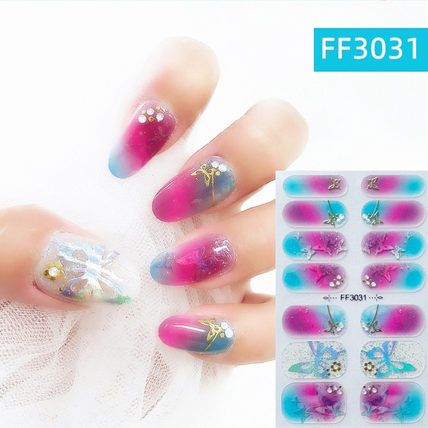 butterfly, nail decals, DIAMOND, Laser
