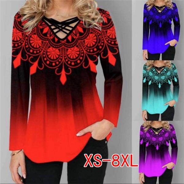 blouse, Plus size top, Tops & Blouses, Cotton T Shirt