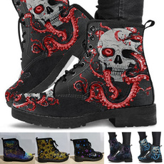 ankle boots, Plus Size, skull, punk