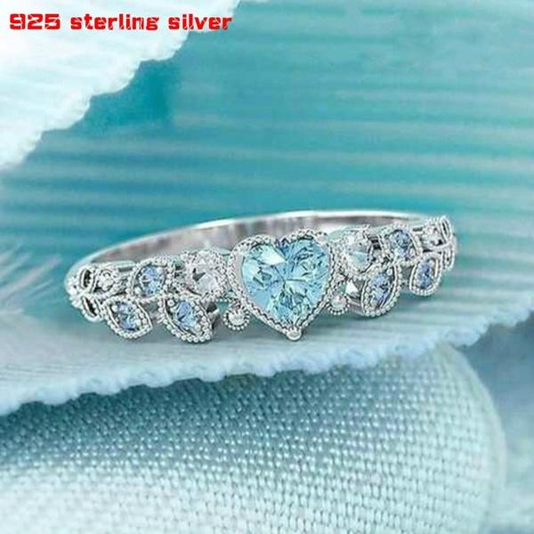 Beautiful, Heart, DIAMOND, sterling silver