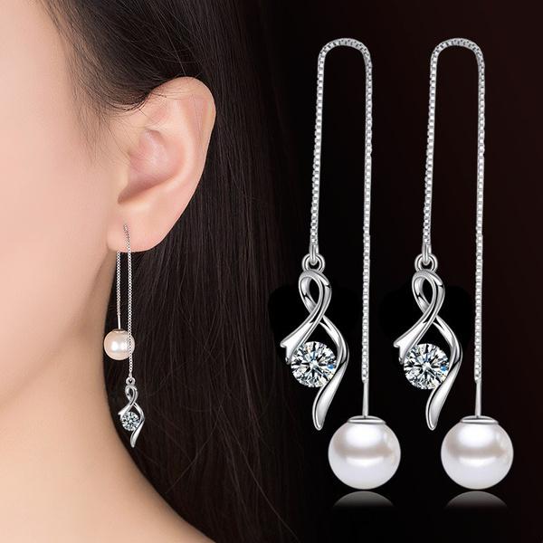 Sterling, Silver Jewelry, teengirlearring, Chain