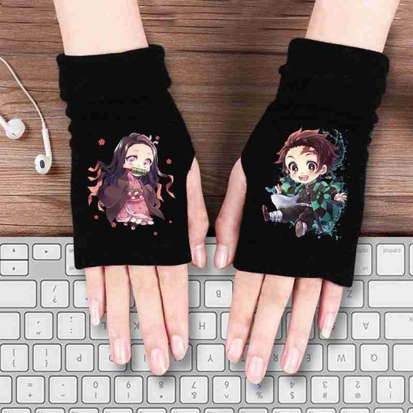 fingerlessglove, Knitting, cartoonglove, Demon