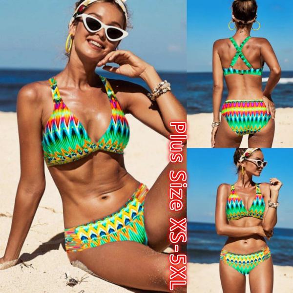 Bikinis Set, Womens Swimsuit, Fashion, Halter