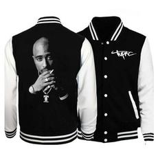 Casual Jackets, Plus Size, tupacsweatshirt, tupacbaseballjacket