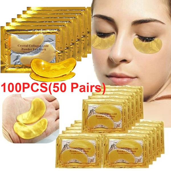 golden, beautymask, eye, collageneyecream