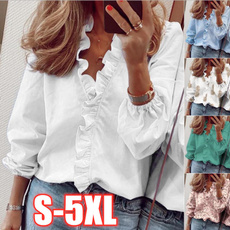 Plus Size, Women Blouse, Long Sleeve, slim