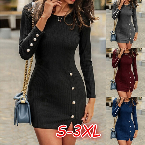highqualitydre, sleeve dress, Winter, Sleeve