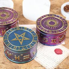 Box, caseresinmold, zodiacglyphscontainer, Silicone