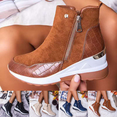 ankle boots, wedge, Tenis, short boots