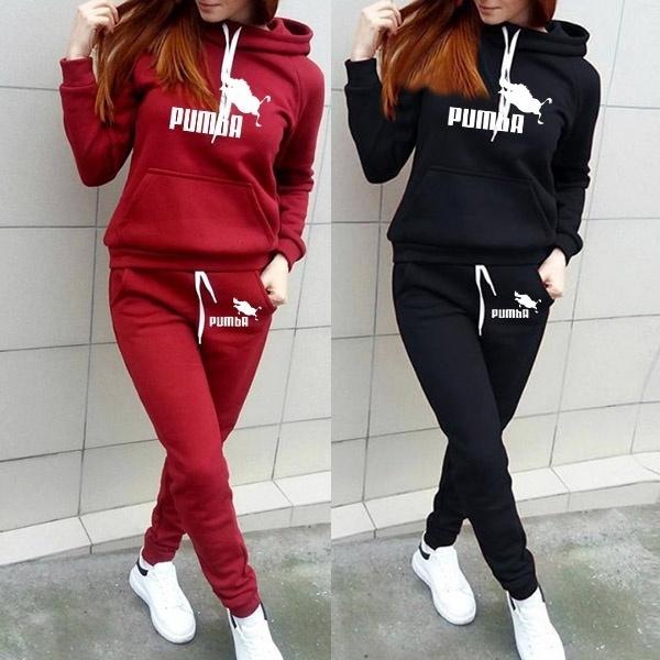 Pocket, tracksuit for women, sports hoodies, Women's Fashion